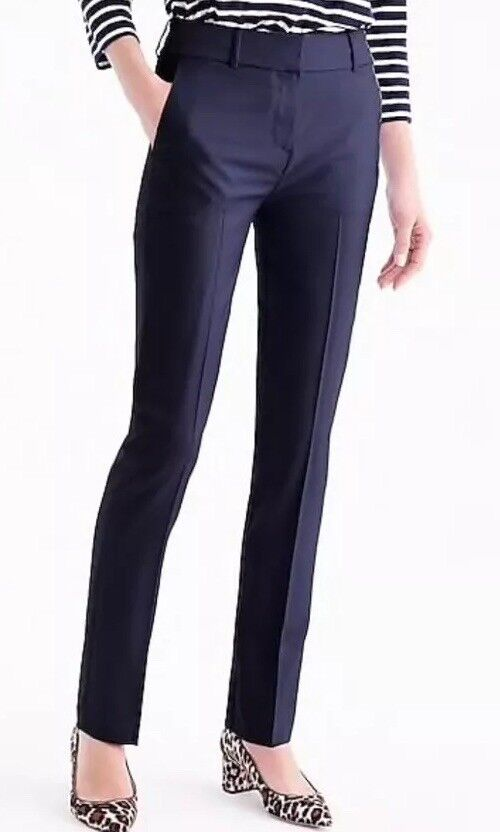 NEW JCREW  128 Petite tailored trouser in Italian Super 120s wool Sz4P G8740