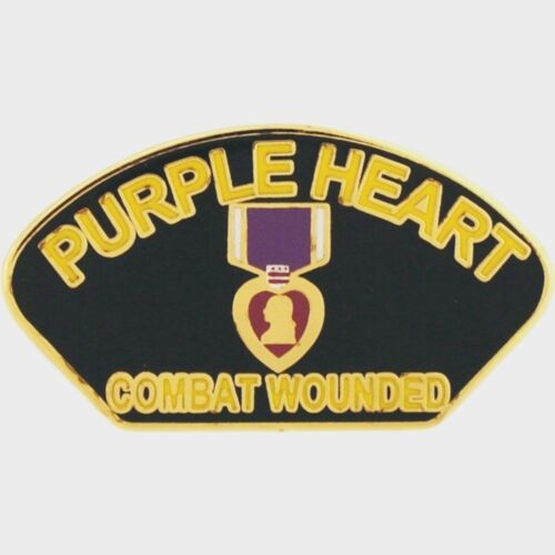 """Purple Heart Combat Wounded Hat Pin   1 1//4/"""""""