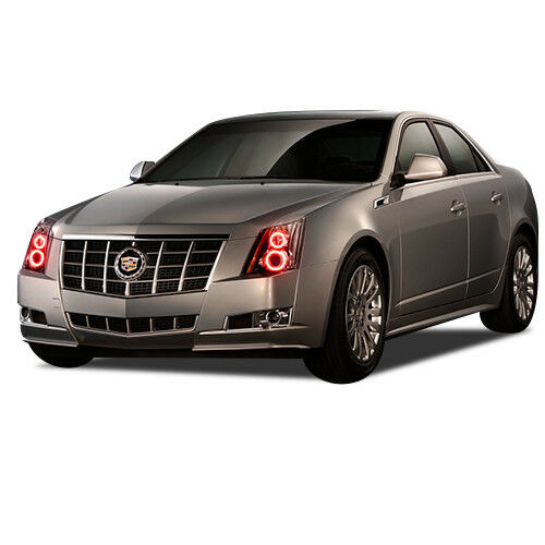 Flashtech Brightest RED LED Halo Ring Headlight Kit for Cadillac CTS 08-13