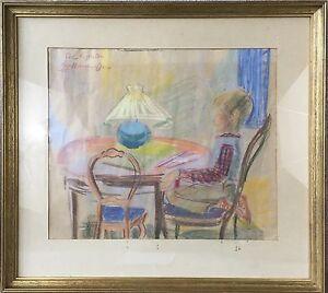 Eva-Holmberg-Jacobsson-1955-Interior-Boy-at-the-Table-Sweden