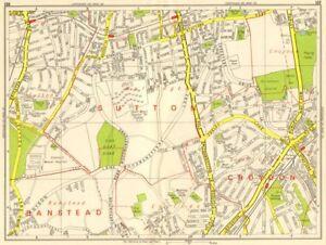 In Flavor Purley Wallington Carshalton Coulsdon Croydon Airport Geographers' A-z 1964 Map Fragrant