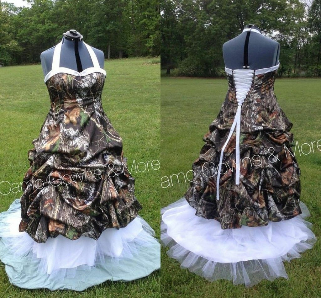 2018 Camo Wedding Dresses Ball Gown Camouflage Bridal Gowns Plus Size Custom For Sale Online Ebay,Black And White Wedding Guest Dress