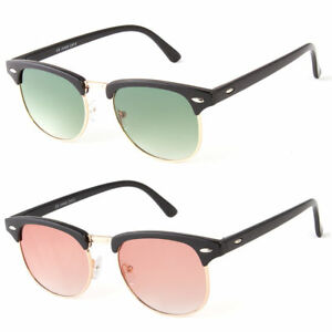 fd19ecfc1f3c Image is loading Classic-Vintage-Sunglasses-Mens-Womens-Metal-Half-Frame-