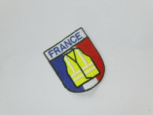 Ecusson drapeau patch France brodé soutien mouvement Gilet Jaune