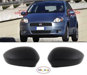 FIAT PUNTO EVO 2010-2012 porte Specchietto Retrovisore Esterno COVER NERO O//S DRIVER LATO DESTRO