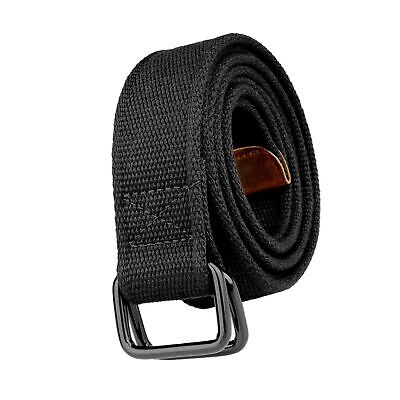 100cm To 180cm Lenght Mens Double Ring Canvas Cloth Belts