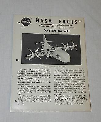 Ii No Vtg Original Nasa Facts Educational Publication V/stol Aircraft Vol 3 Numerous In Variety