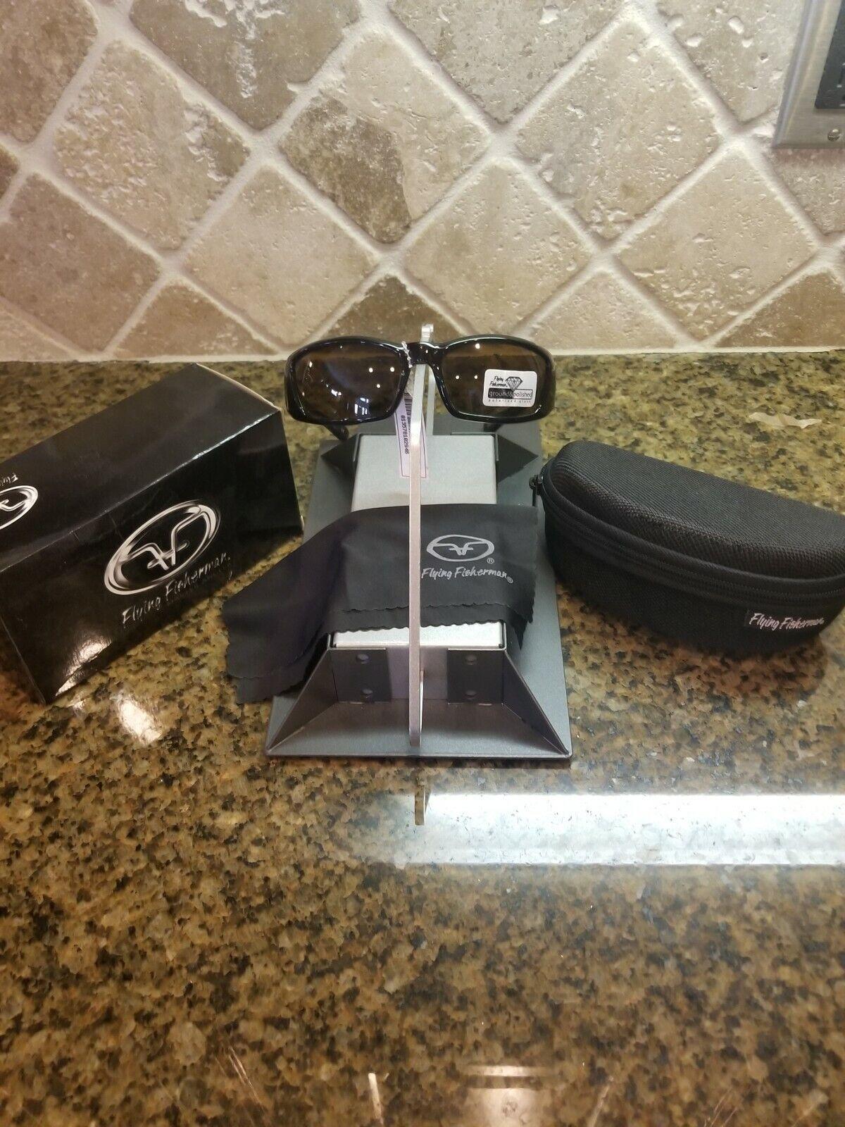 Flying fisherman polarized sunglasses  BOCA  Tortoise  frames- amber lenses  stadium giveaways
