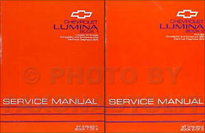 1993 93 chevrolet lumina service repair manual book 1 and 2 of 2.