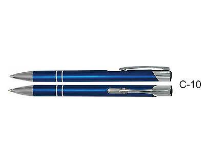 50 Metallkugelschreiber mit Wunschgravur, Kugelschreiber mit Gravur, Lasergravur