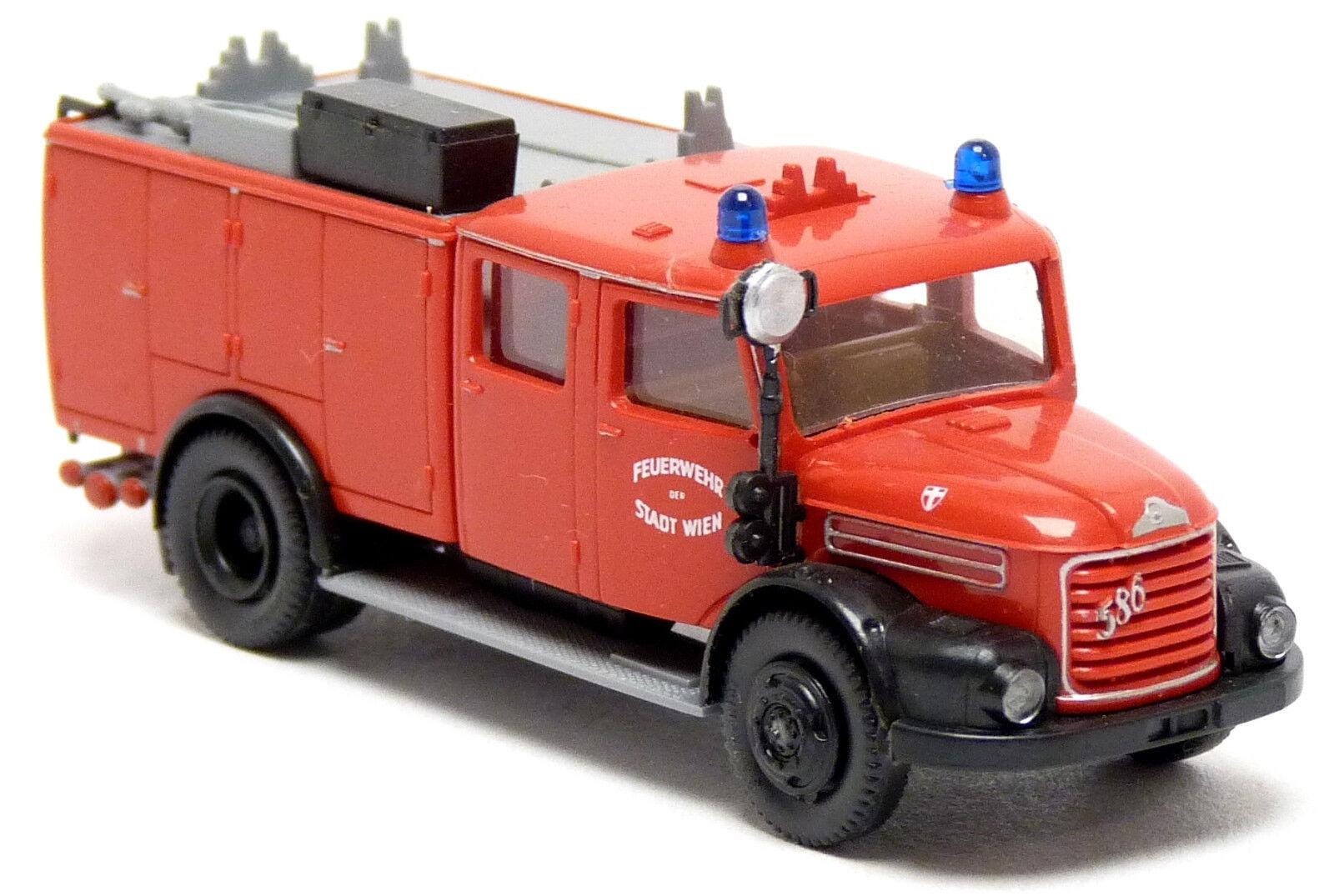 Roco 1344 Steyr 586 TLF 1500 Feuerwehr Wien Österreich red Löschfahrzeug 1 87 H0