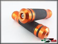 Honda CBR250R GROM MSX125 CBR300R Strada 7 CNC Grips Bar Ends Combo Orange