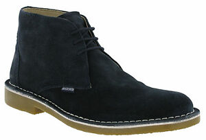 Delicious Lambretta Desert Navy Leather Ankle Boots Mens Carnaby 3 Eye Suede Round Toe Clothing, Shoes & Accessories