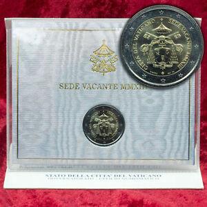 2 Euro Gedenkmünze Münze Coin Vatikan Sede Vacante Sedisvakanz