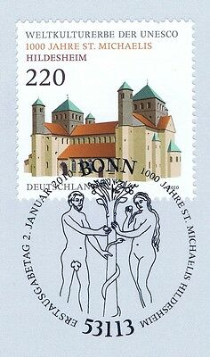 Brd 2010: St. Michaelis Hildesheim Nr 2774 Bonner Ersttagssonderstempel 1a! 1706