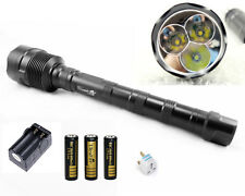 3 x CREE XML T6 3800 Lumens LED Flashlight Torch +3 x 18650 Battery & Charger