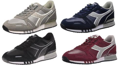 Diadora Men/'s Titan Leather L//S Running Shoe Color Options