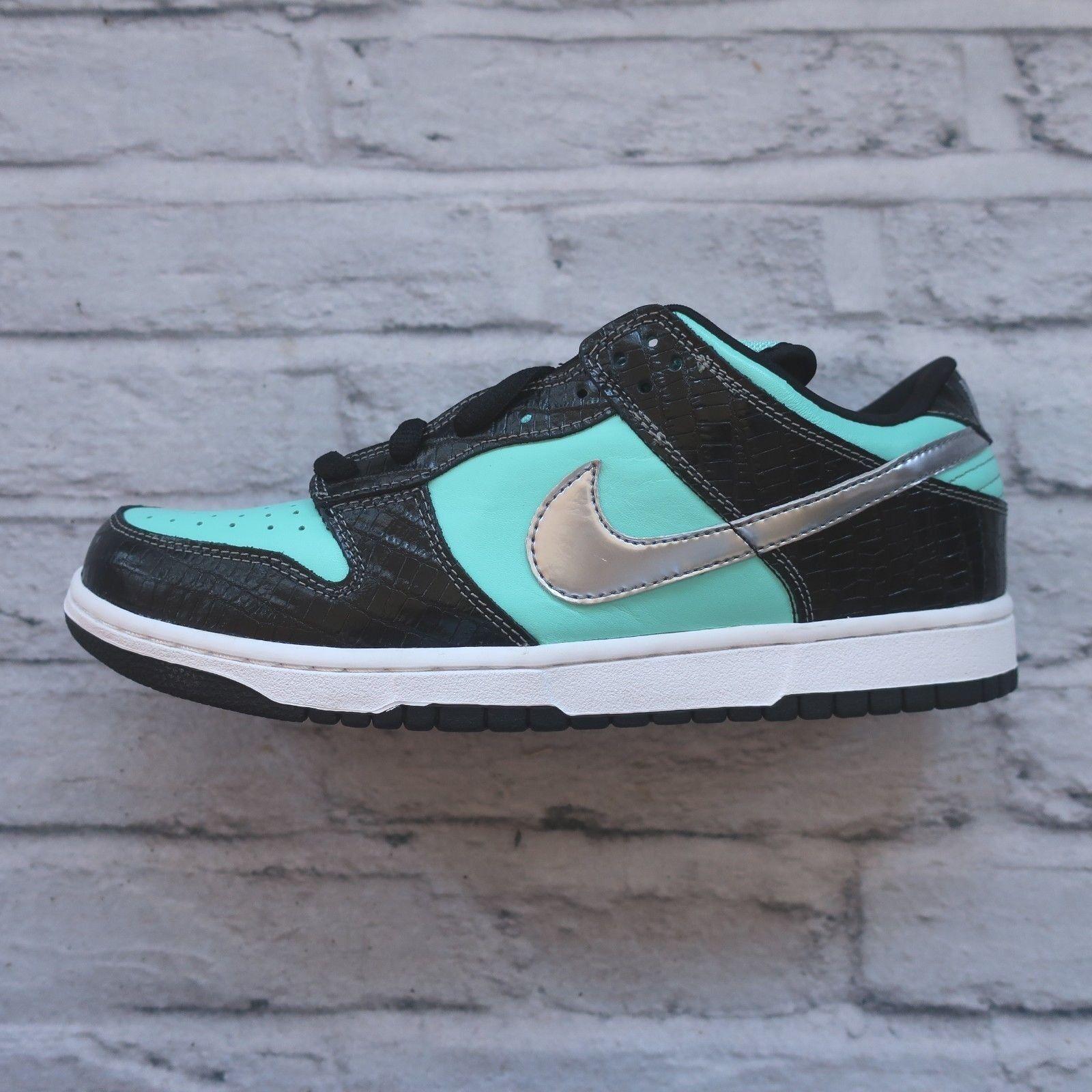 NEW 2005 Nike Dunk Low Pro SB Diamond shoes 304292-402 Size 10 Vtg