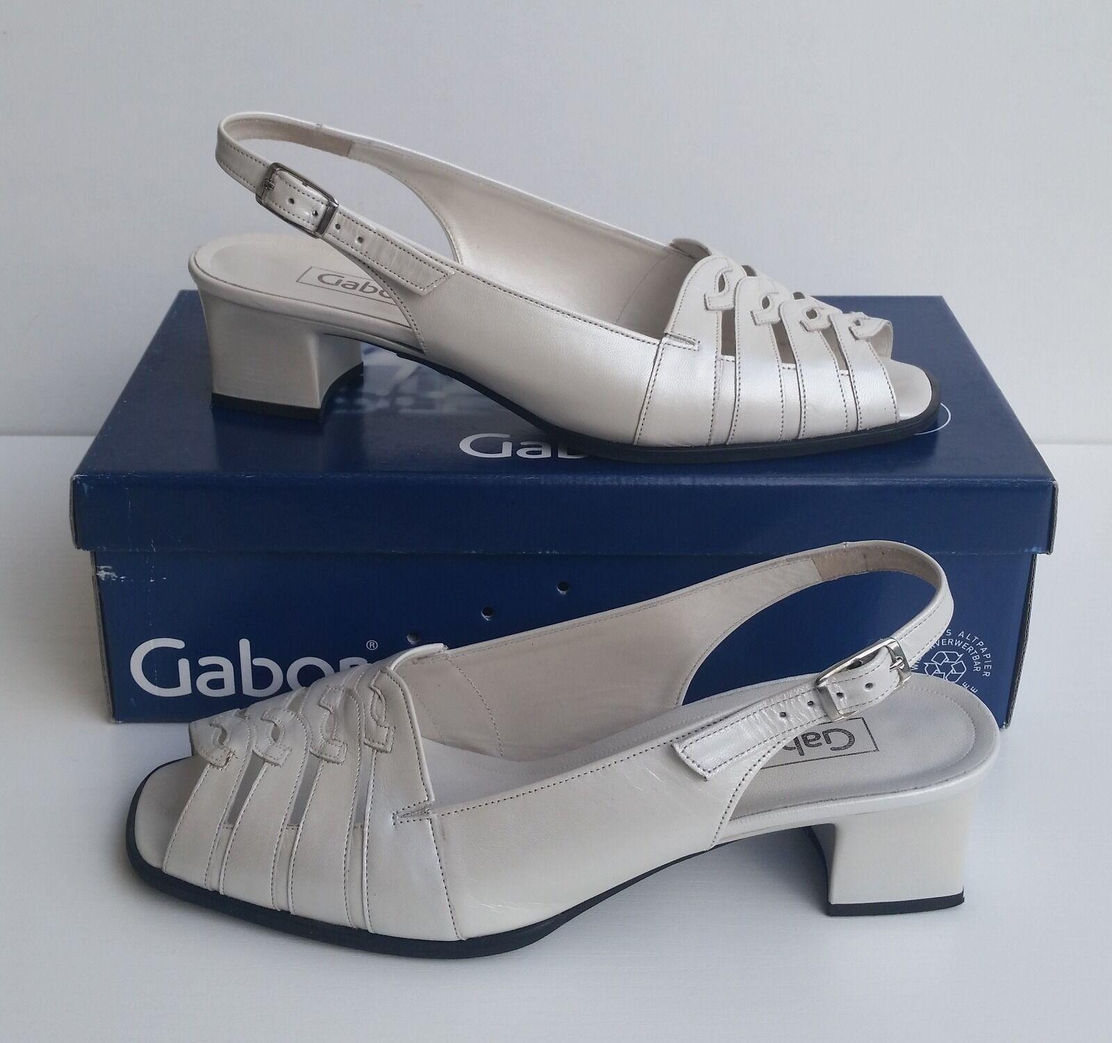 Schicke Schuhe für Damen von Gabor - Gr. 40 1/2 - off-white perlato - NEU