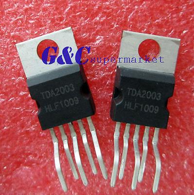 10PCS TDA2003 ZIP-5 ST 10W CAR RADIO AUDIO AMPLIFIER NEW GOOD QUALITY