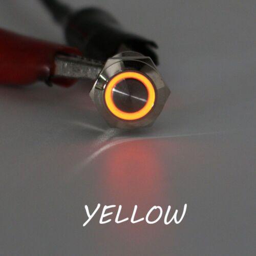 Durable Universal LED ON//OF Car Aluminum Symbol Push Button Self-Locking Switch