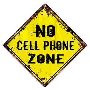 DS-0013-NO-CELL-PHONE-ZONE-Diamond-Sign-Rustic-Chic-Sign-Shop-Home-Decor-Gift
