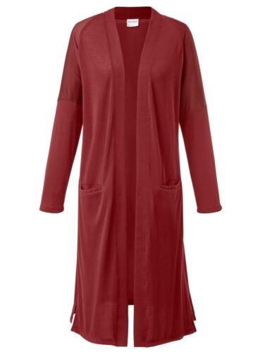 Giacca in maglia finemente lavorata a Maglia Cappotto A Maglia Cappotto RUGGINE TG 50//52 NUOVO