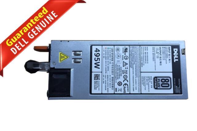 Platinum Hot-Swap Redundant PSU F495E-50 Dell 3GHW3 495W 80