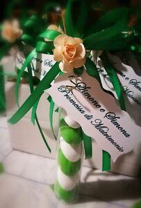 Bomboniere Promessa Matrimonio.Bomboniera Provetta Vetro Promessa Matrimonio Sposi Nozze Verde Ebay