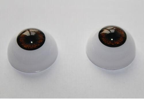 Half Round 22mm Eyes Acrylic Eyes Brown for Reborn Baby Dolls DIY BJD OOAK Doll