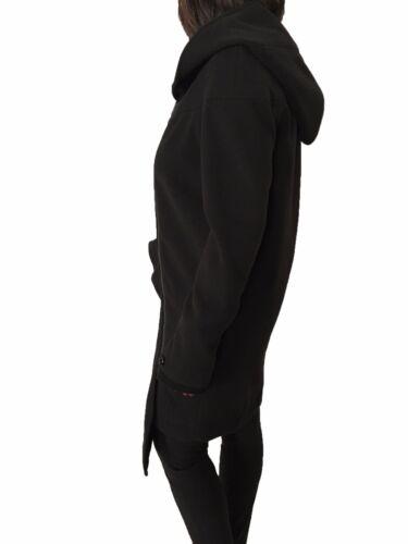 Italy Fermeture Manteau Noir Made Grazia Maria In Avec Panizzi Femme Éclair qwvqE1Xx