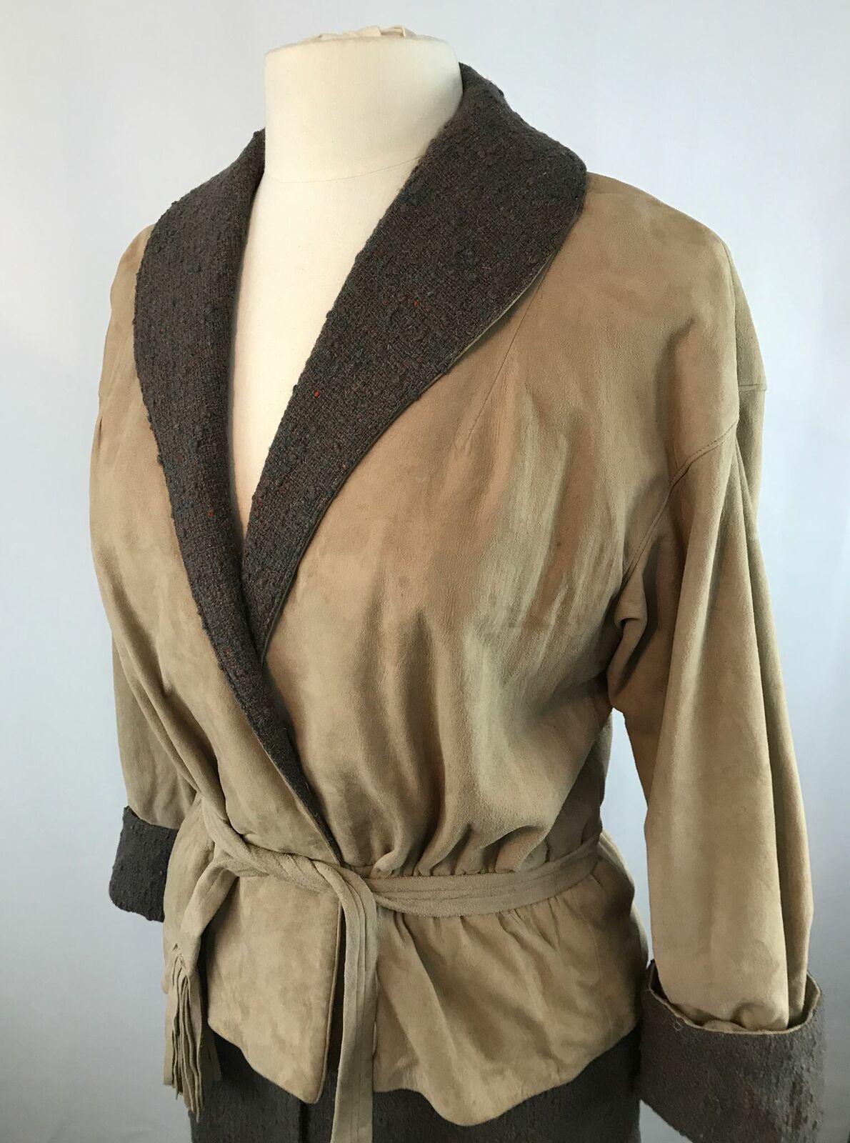 Vintage Bonnie Cashin Leather Jacket and Skirt Se… - image 2