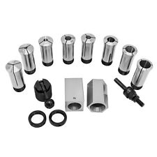 Hfsr 14 Pcs 18 1x16ths 5c Precision Round Collets Withcollet Block Chuck