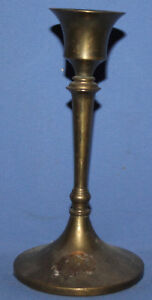 ANTIQUE BRONZE CANDLESTICK CANDLE HOLDER