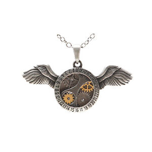 Aviation necklace steampunk gear cog fly flying plane resin necklace art work long necklace