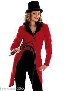 Image is loading Ladies-Ringmaster-Fancy-Dress-Costume-Ring-Master-Circus-  sc 1 st  eBay & Ladies Ringmaster Fancy Dress Costume Ring Master Circus Lion Tamer ...