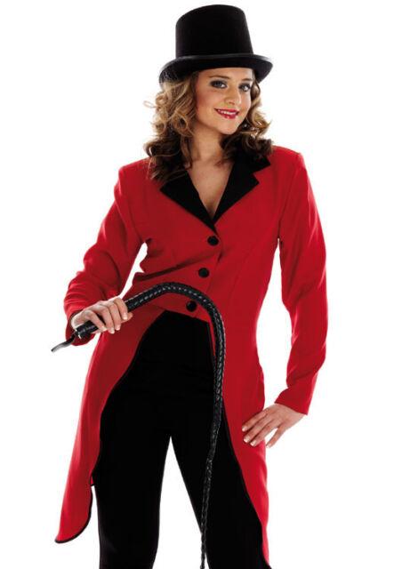 4cabd7f9b647a Ladies Ringmaster Fancy Dress Costume Ring Master Circus Lion Tamer Jacket    Hat