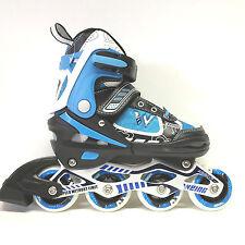 Weing Inline Skate verstellbare Kinder Inliner Skate blau Gr. 30-33 Abec 7- LED