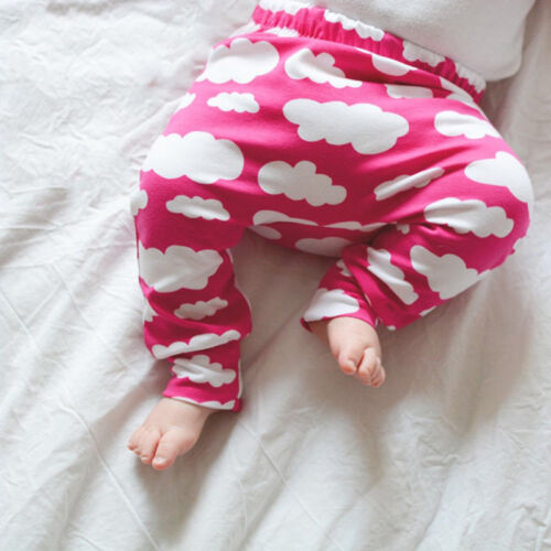Baby Jungen Mädchen Casual Haremshose Hosen Elastische Leggings Bottom Sweathose