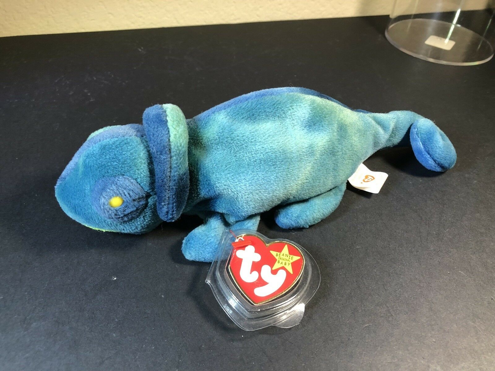 Ty Beanie Baby Rainbow the Chameleon Chameleon Chameleon VERY RARE First Run Tag Errors Iggy Fabric  8ff00b
