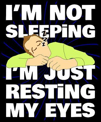 I/'m Not Sleeping I/'m Just Resting My Eyes Shirt Funny Lazy Dad Gift Premium Tee