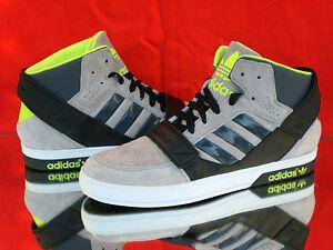 ADIDAS Originals Hardcourt Defender Higt Top Sneaker Grau/schwarz/gelb M22333Neu