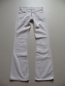 Levi-039-s-529-Bootcut-Jeans-Hose-W-29-L-34-Weiss-White-Stretch-Denim-RAR-36
