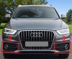 Genuine-Audi-Q3-S-Linea-2012-2014-Luz-Antiniebla-Parachoques-Parrilla-Set-Izquierda-Derecha