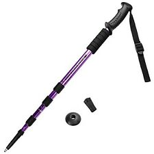 Crown Sporting Goods Shock-Resistant Adjustable Trekking Pole and Hiking Staff