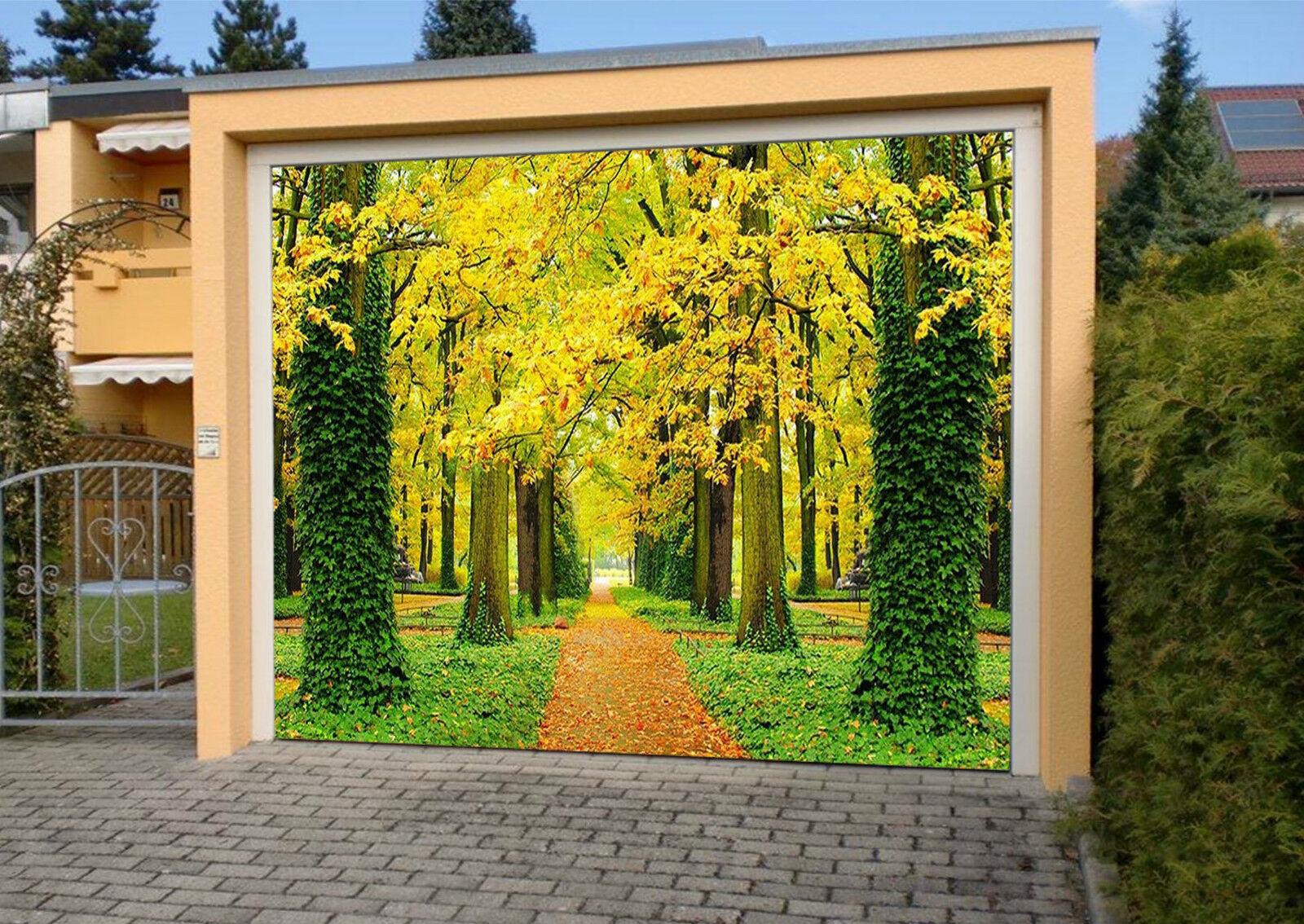 3D Arbres Vignes 9 Garage Door Murals Wall Print Decal Wall Deco AJ WALLPAPER FR