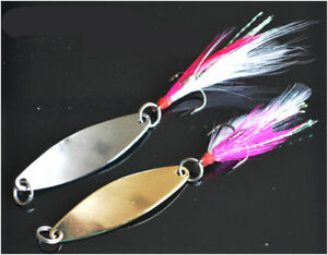 10pcs-Metal-Spoon-Fishing-Lures-with-Feather-Hooks-Saltwater-Crankbaits-14g-Lure