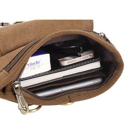 Umhängetasche Vintage Schultertasche Segeltuch Messenger Tasche IPad FX260