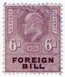 (I.B) Edward VII Revenue : Foreign Bill 6d