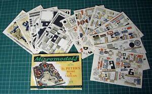 1950s-Vintage-Original-Micromodels-ARC22-St-Peter-039-s-Rome-amp-Vatican-Complete